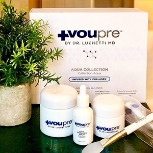 products from aqua collection near plant